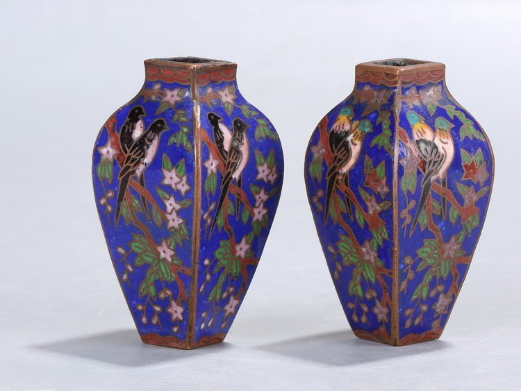 Chinese Republic of China Flower and Bird Bottle - 2