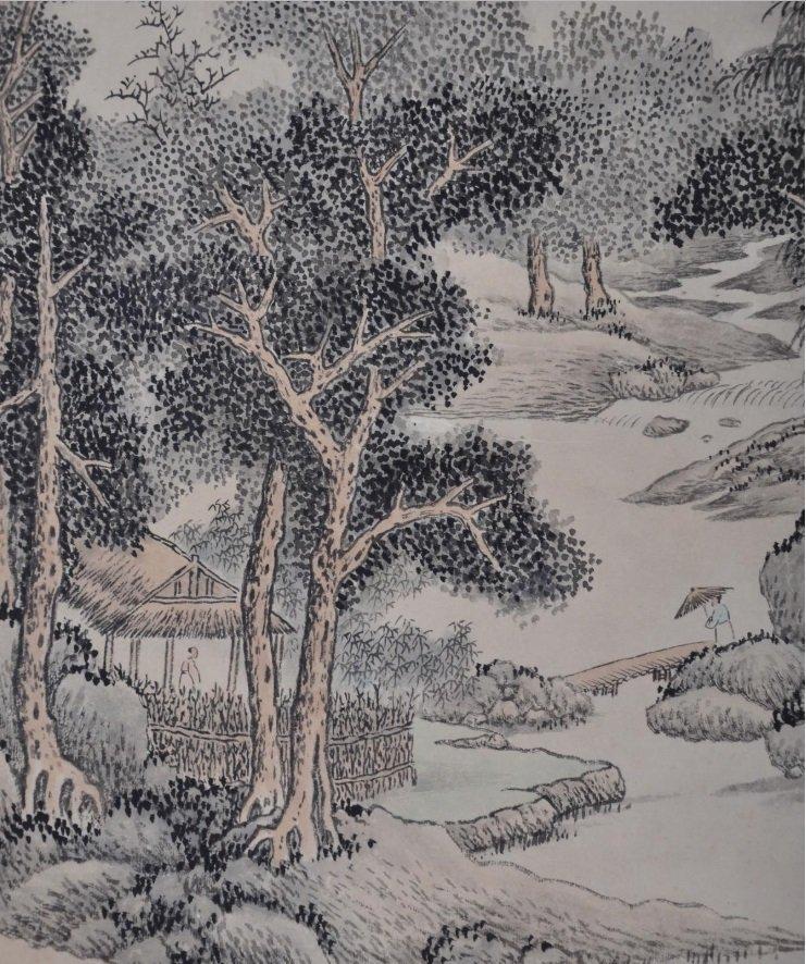 WU QINMU ( 1894 - 1953 ) CHINESE LANDSCAPE PAINTING - 2