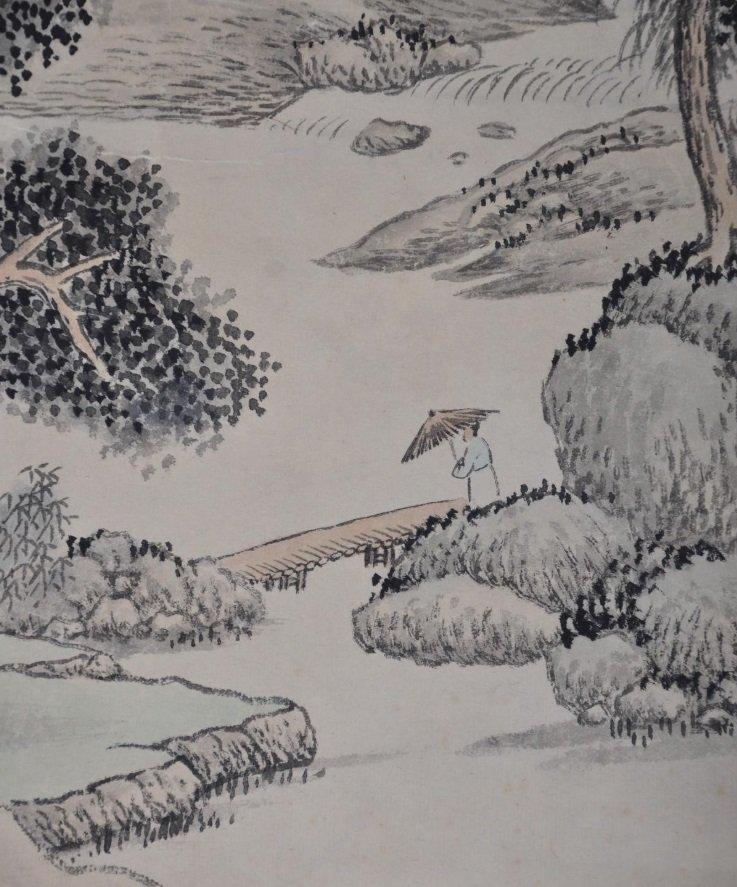 WU QINMU ( 1894 - 1953 ) CHINESE LANDSCAPE PAINTING - 3