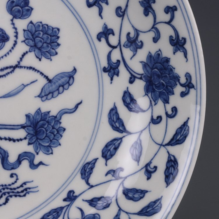 Chinese Blue & White Porcelain Plate - 3