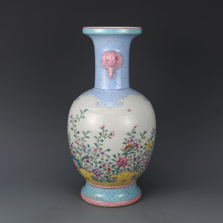 Chinese Qing Dynasty pastel vase - 5
