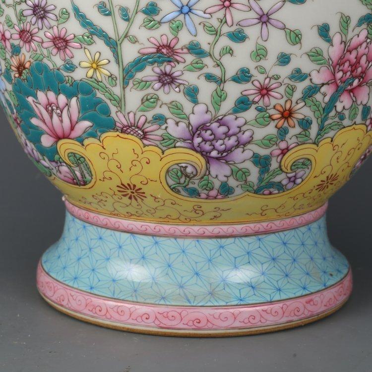 Chinese Qing Dynasty pastel vase - 7