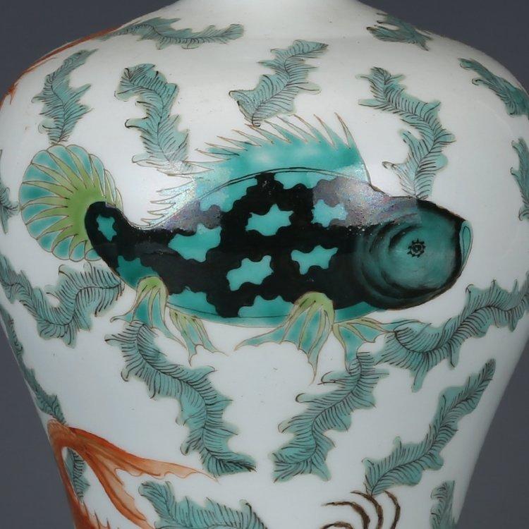Chinese Qing Dynasty pastel vase - 4