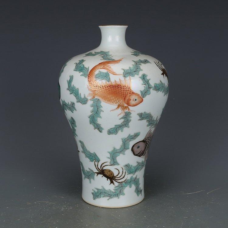 Chinese Qing Dynasty pastel vase - 6