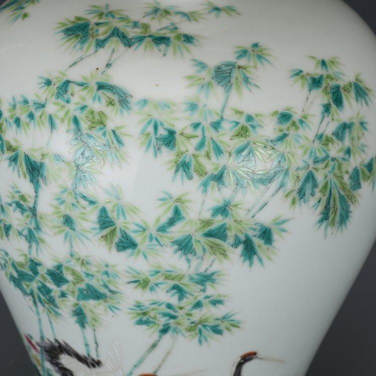 Chinese Qing Dynasty pastel vase - 3