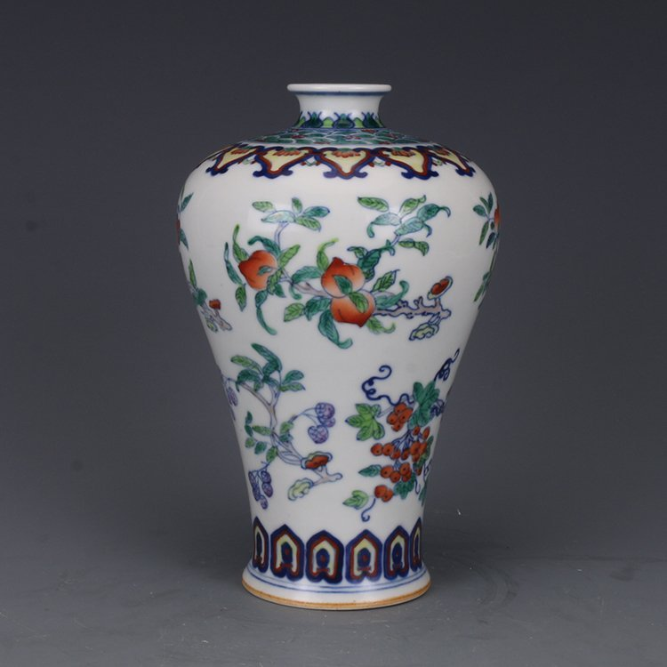 Chinese Qing Dynasty colored vase