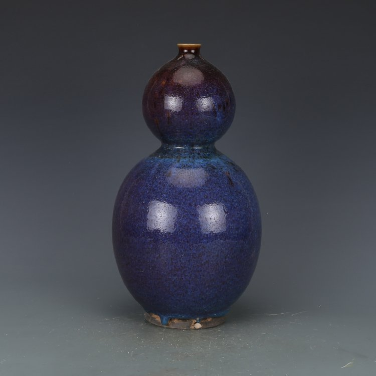 Qing dynasty Kiln discoloration Bottle gourd vase