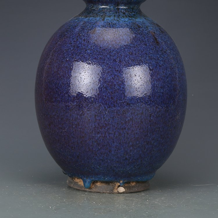 Qing dynasty Kiln discoloration Bottle gourd vase - 2