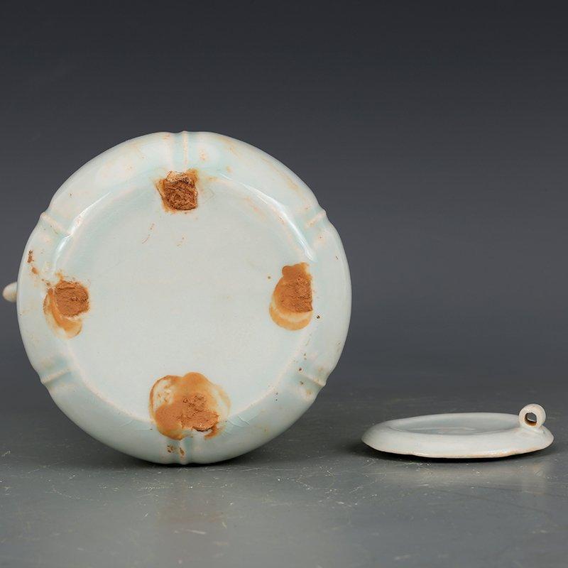 Song Dynasty green glaze hand-held pot - 8