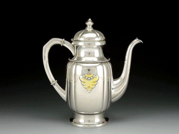 Danish sterling silver Gold plating tea set in 1913 - 3