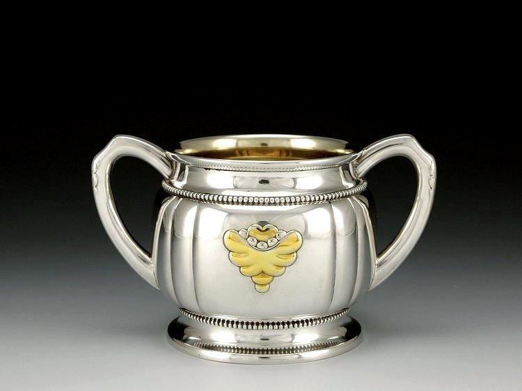 Danish sterling silver Gold plating tea set in 1913 - 7