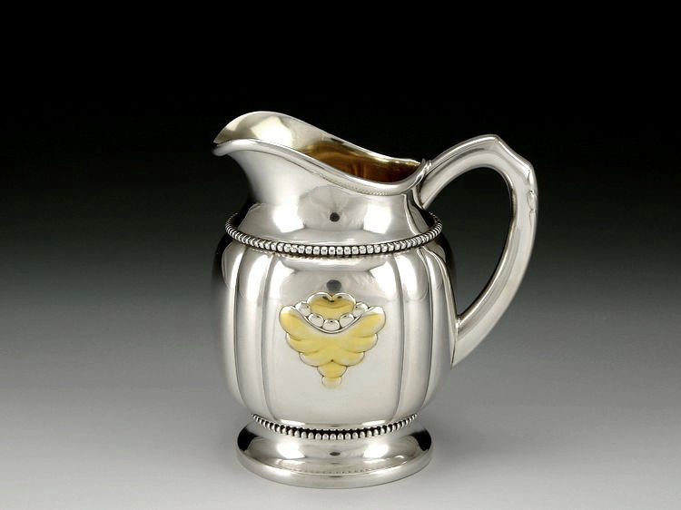 Danish sterling silver Gold plating tea set in 1913 - 9