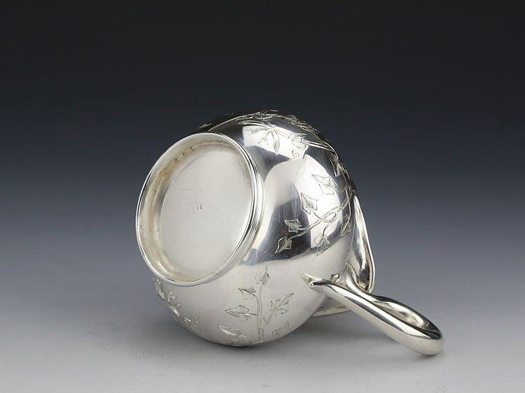 1838 French sterling silver gilt tea set - 10