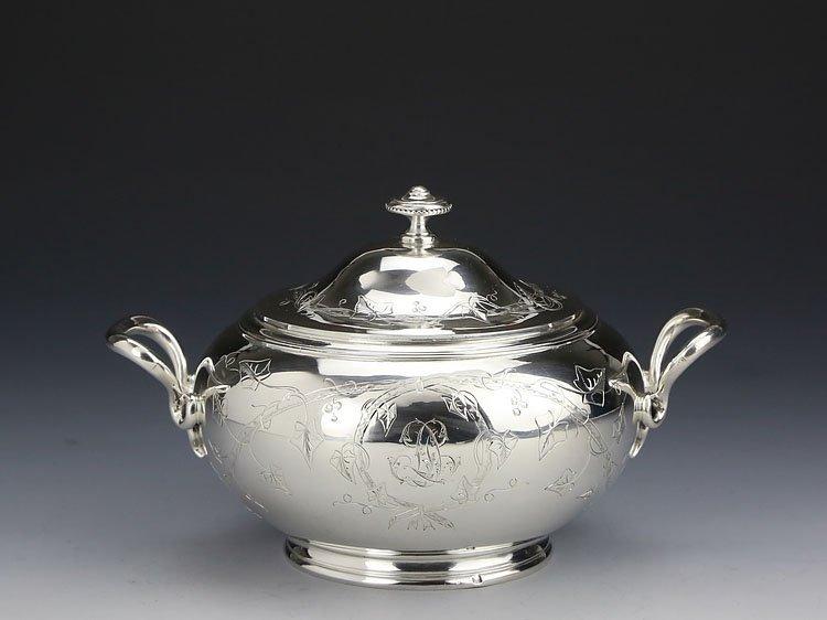 1838 French sterling silver gilt tea set - 6