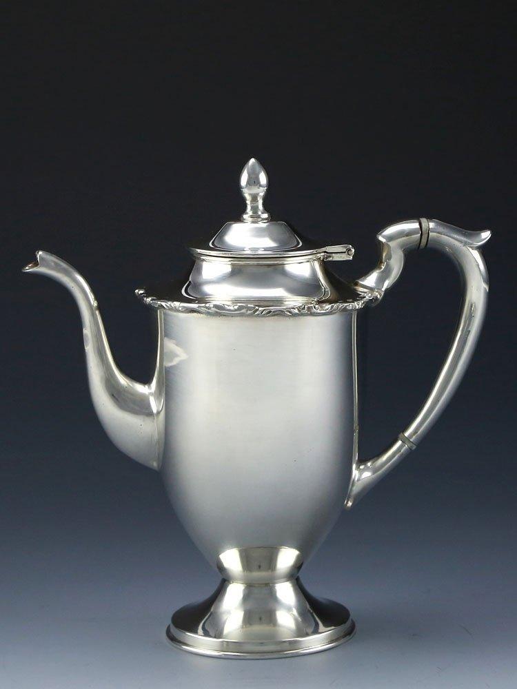 Mexican sterling silver teapot four-piece suit - 3
