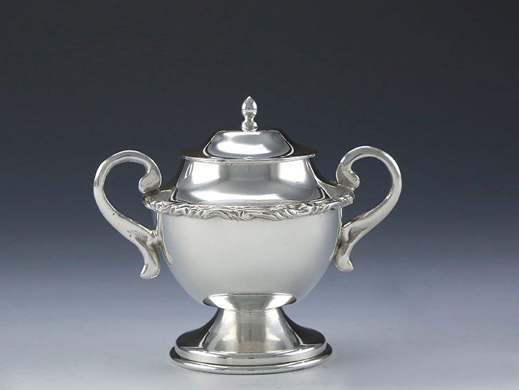 Mexican sterling silver teapot four-piece suit - 5