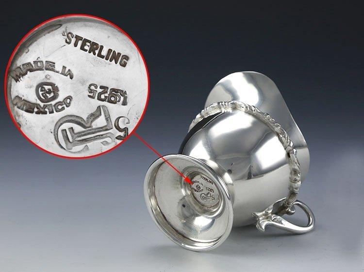 Mexican sterling silver teapot four-piece suit - 8
