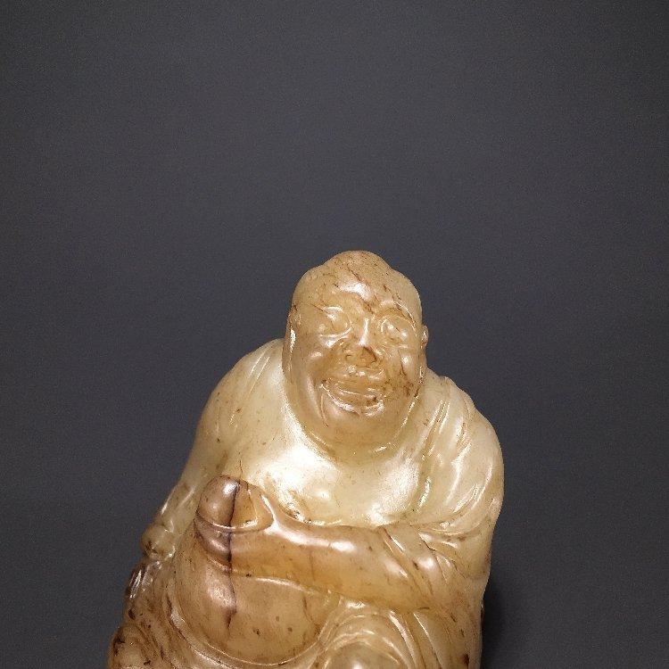 Ming Dynasty Hetian jade carving Maitreya Buddha - 2
