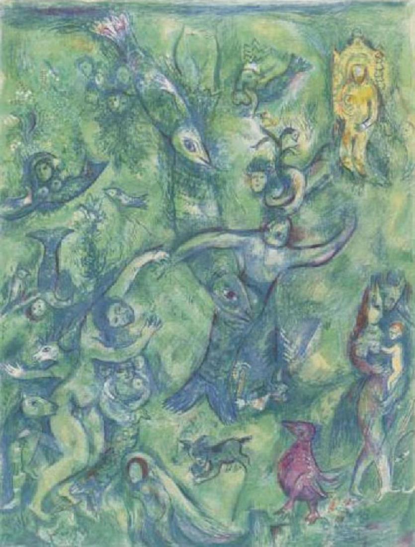 Arabian Nights Book Lithograph Plate 9