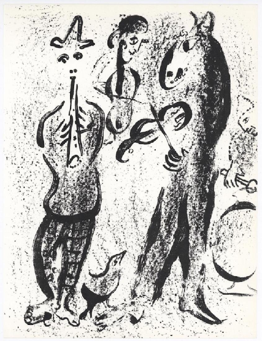 Itinerant Players from Chagall Lithographs I