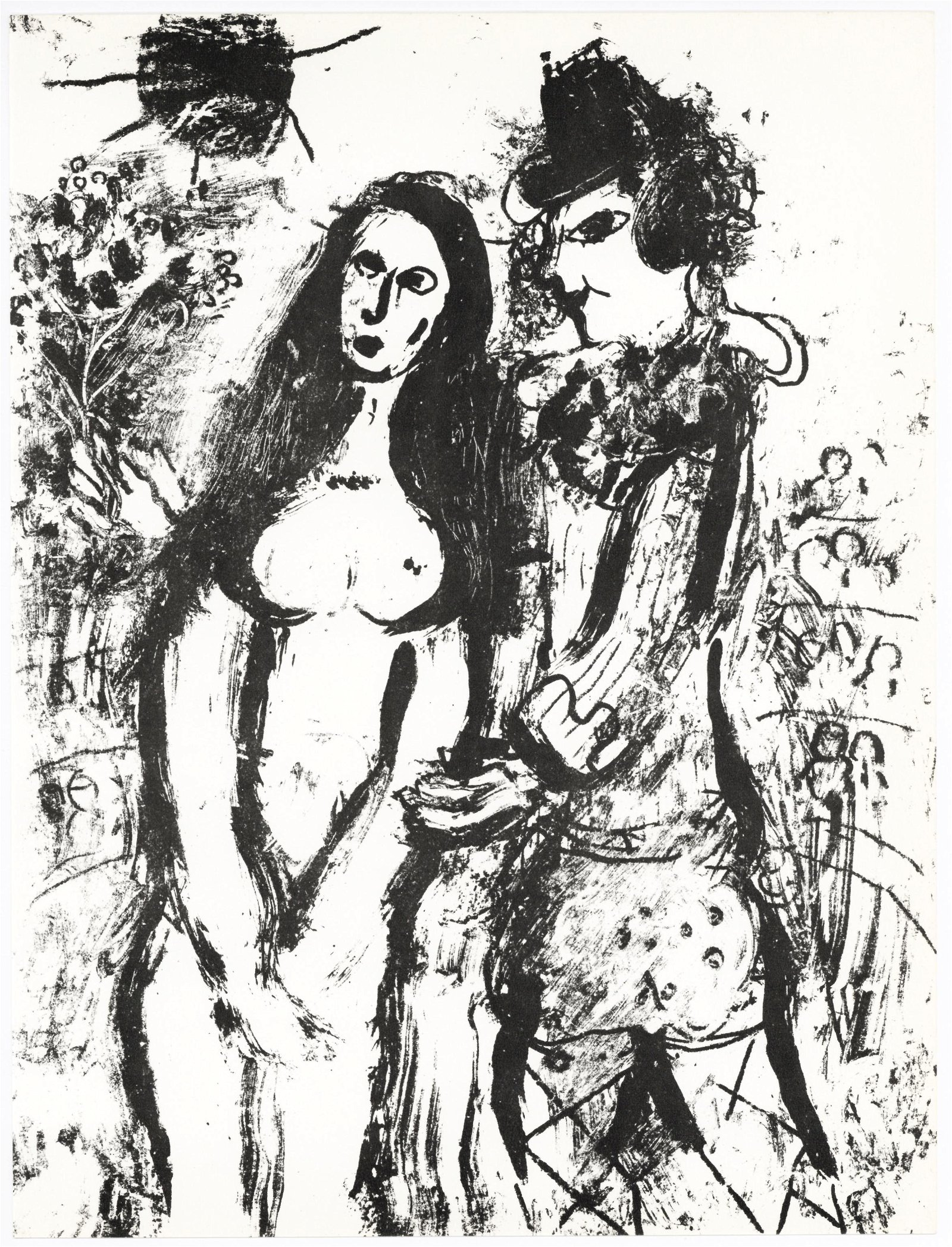 Marc Chagall (After) - Clown In Love