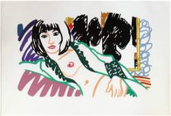 Tom Wesselmann - Monica in Robe with Motherwell