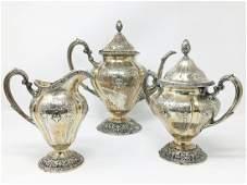AMERICAN STERLING SILVER TEA SET, SHREVE & COMPANY
