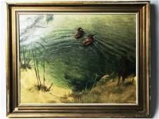 A SIGNED OIL PAINTING