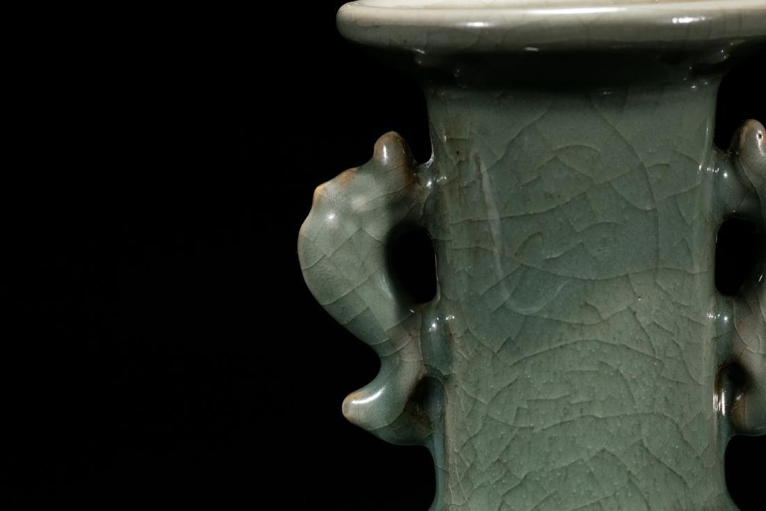 A Longquan Celadon Double Handled Vase - 2