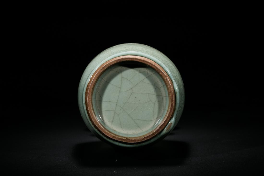 A Longquan Celadon Double Handled Vase - 4
