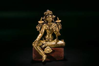 A Gilt Bronze Figure Of Syamatara