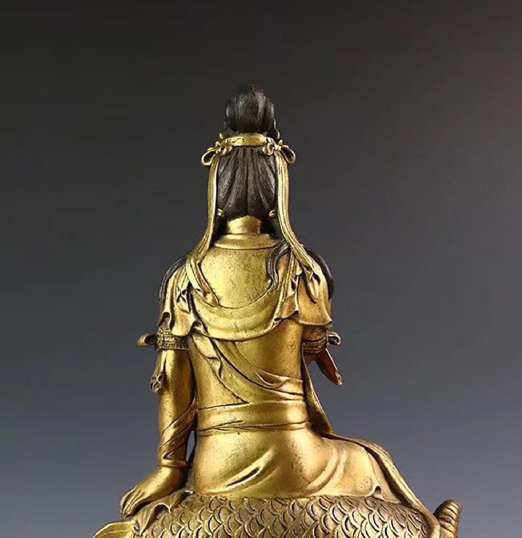 Yongle Marked Gilt-Bronze Figure of Buddha - 6