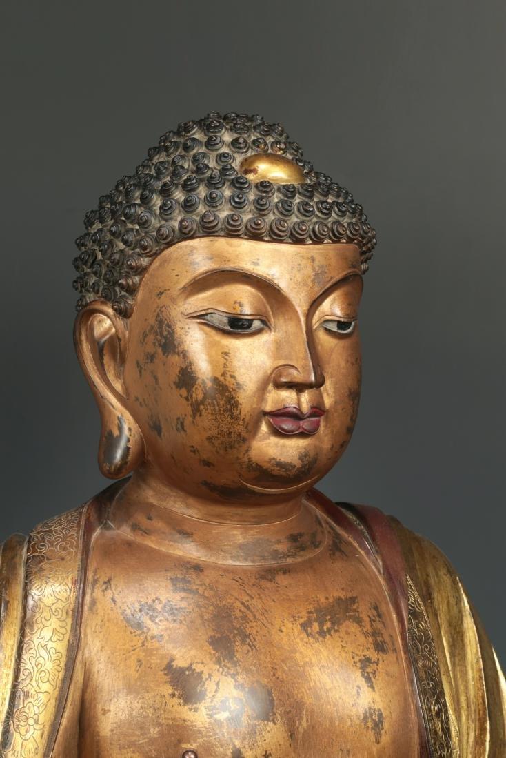Yongle Marked Gilt-Bronze Figure of Buddha - 4