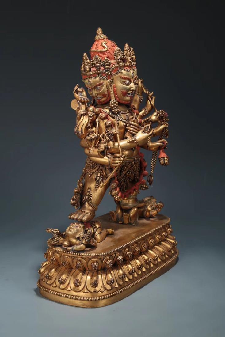 Yongle Marked Gilt-Bronze Figure of Buddha - 2