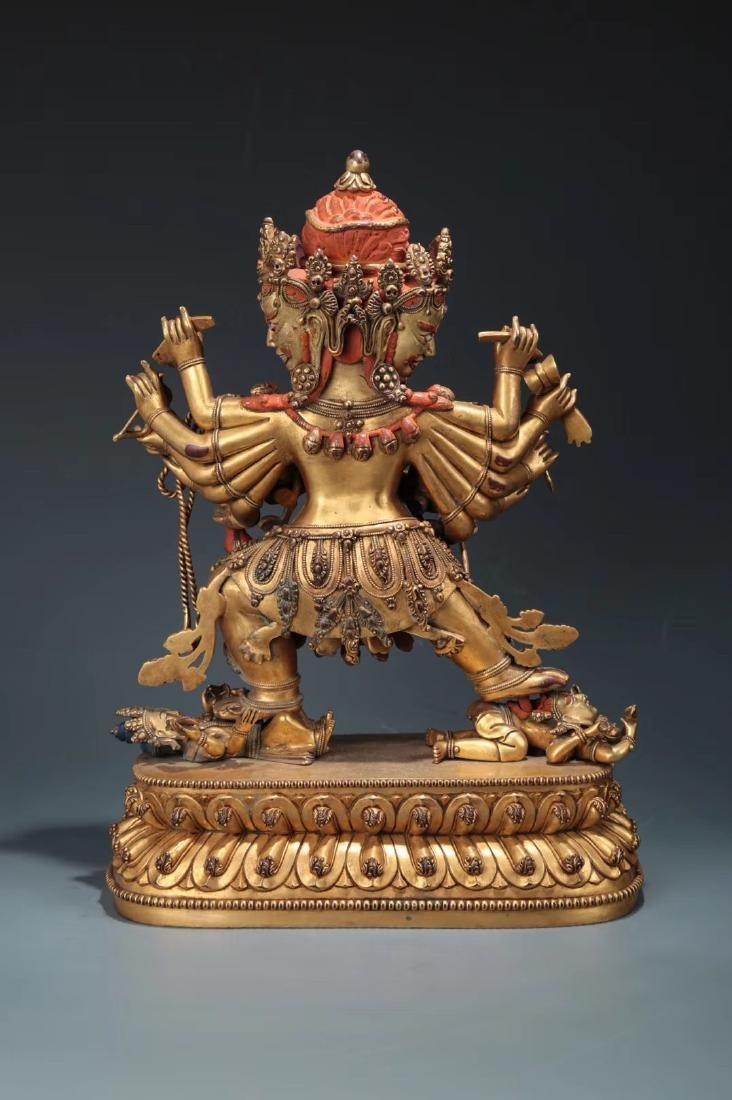 Yongle Marked Gilt-Bronze Figure of Buddha - 3