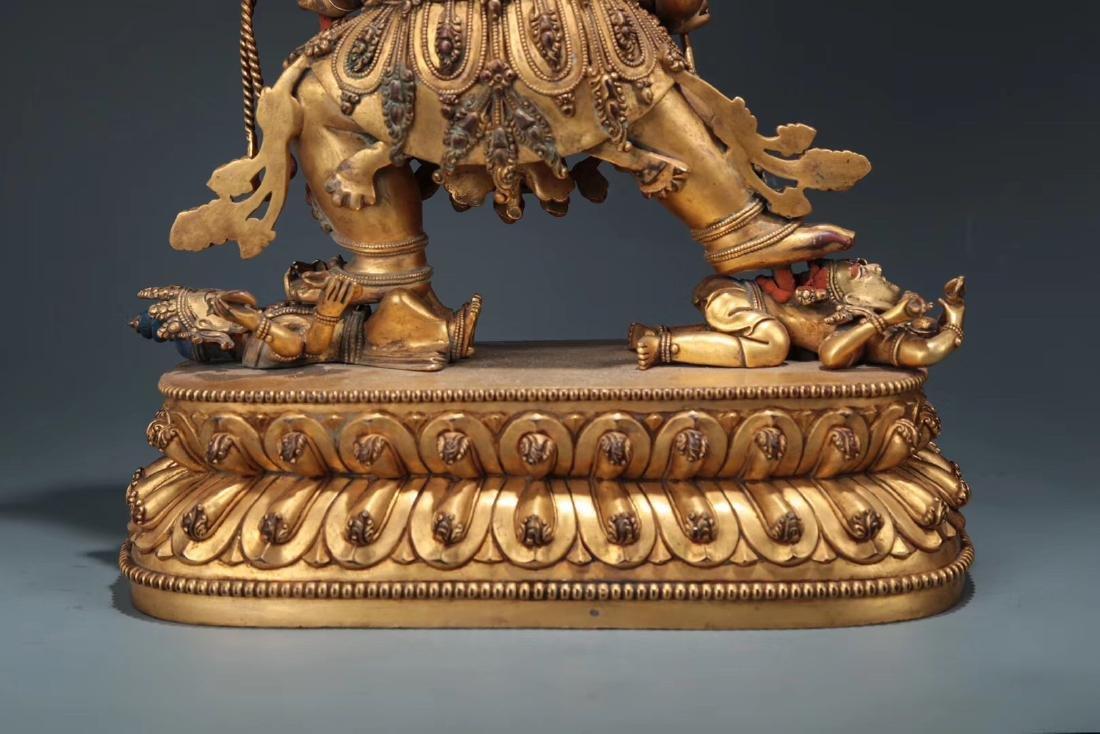 Yongle Marked Gilt-Bronze Figure of Buddha - 8