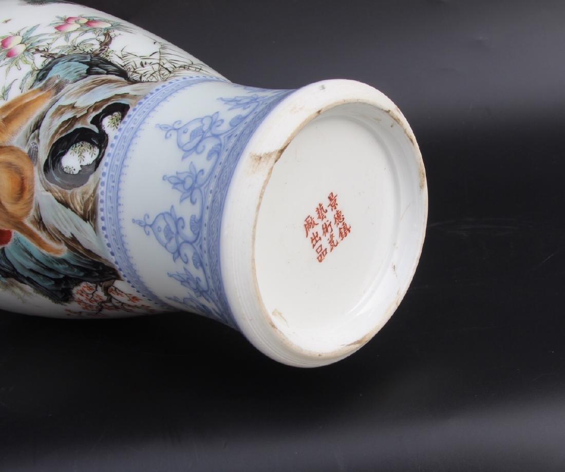 Wang Kunrong Famille Rose Vase - 6