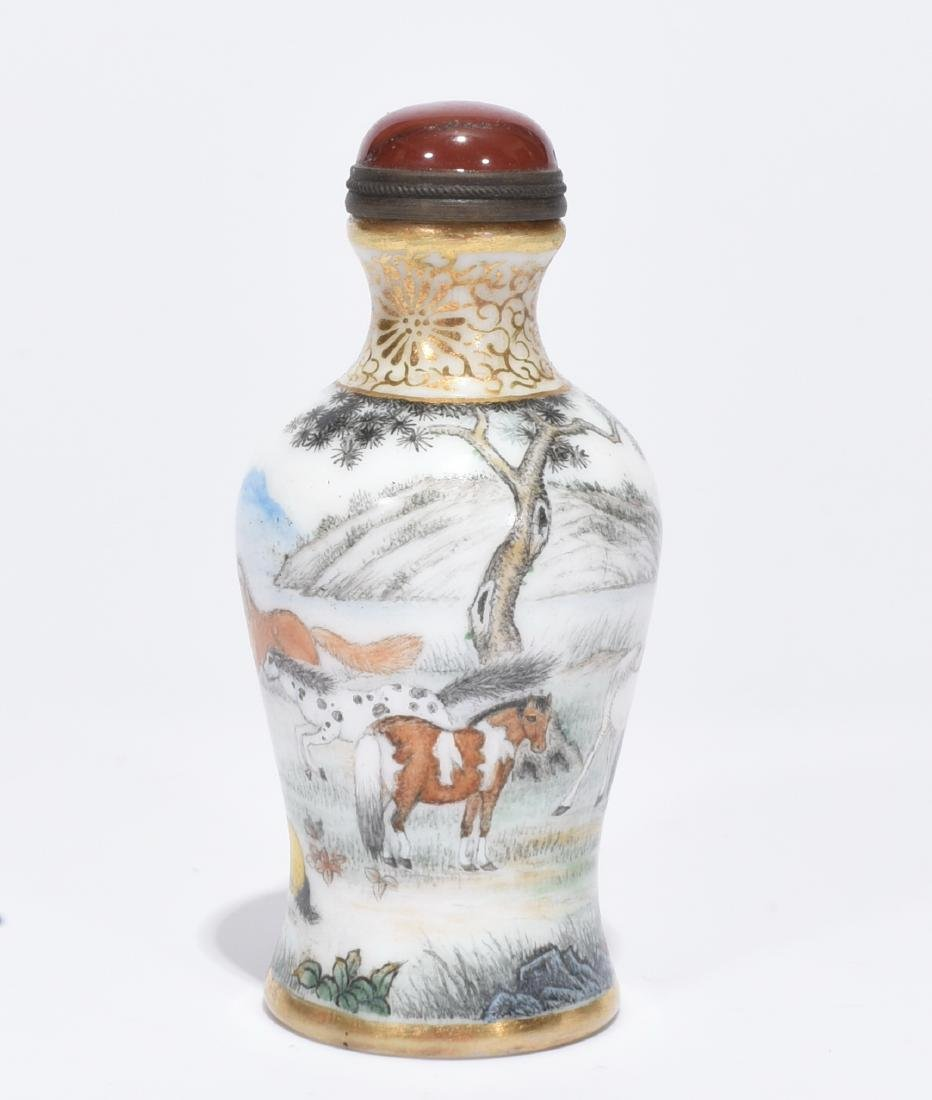 A Fine Enamelled Glass Snuff Bottle
