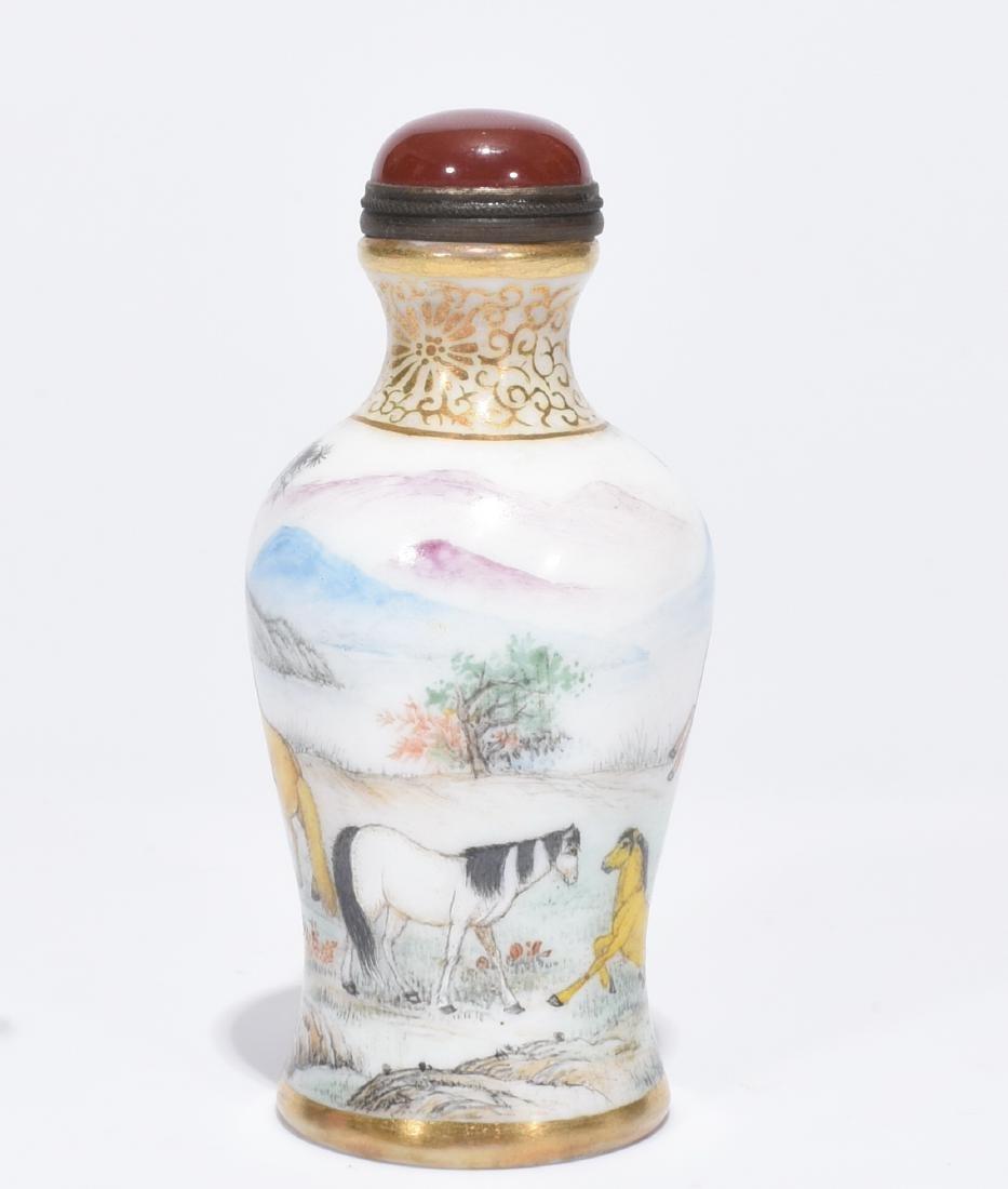 A Fine Enamelled Glass Snuff Bottle - 3