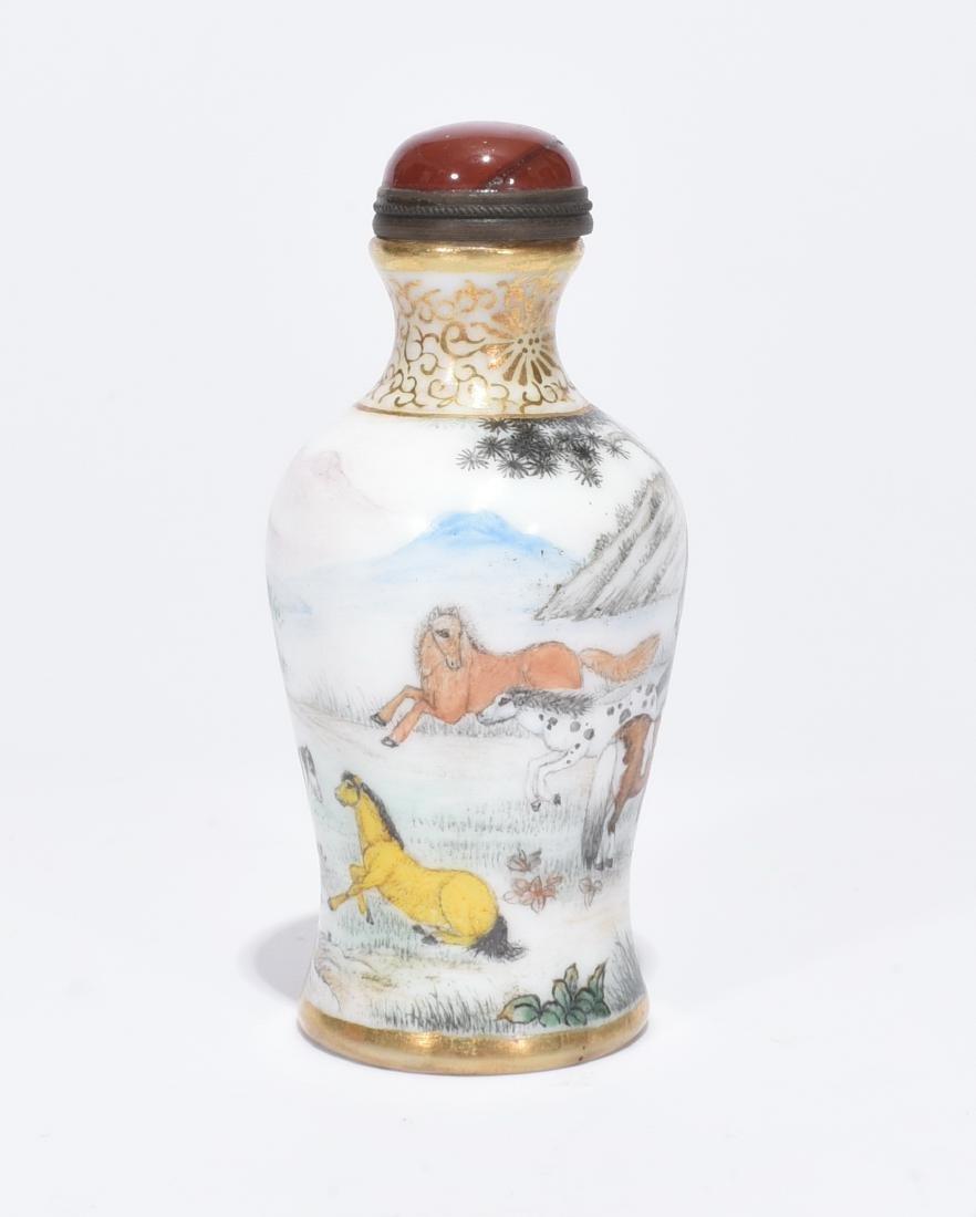 A Fine Enamelled Glass Snuff Bottle - 6