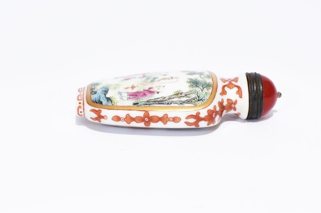 Qianlong Marked Enamelled Glass Snuff Bottle - 4