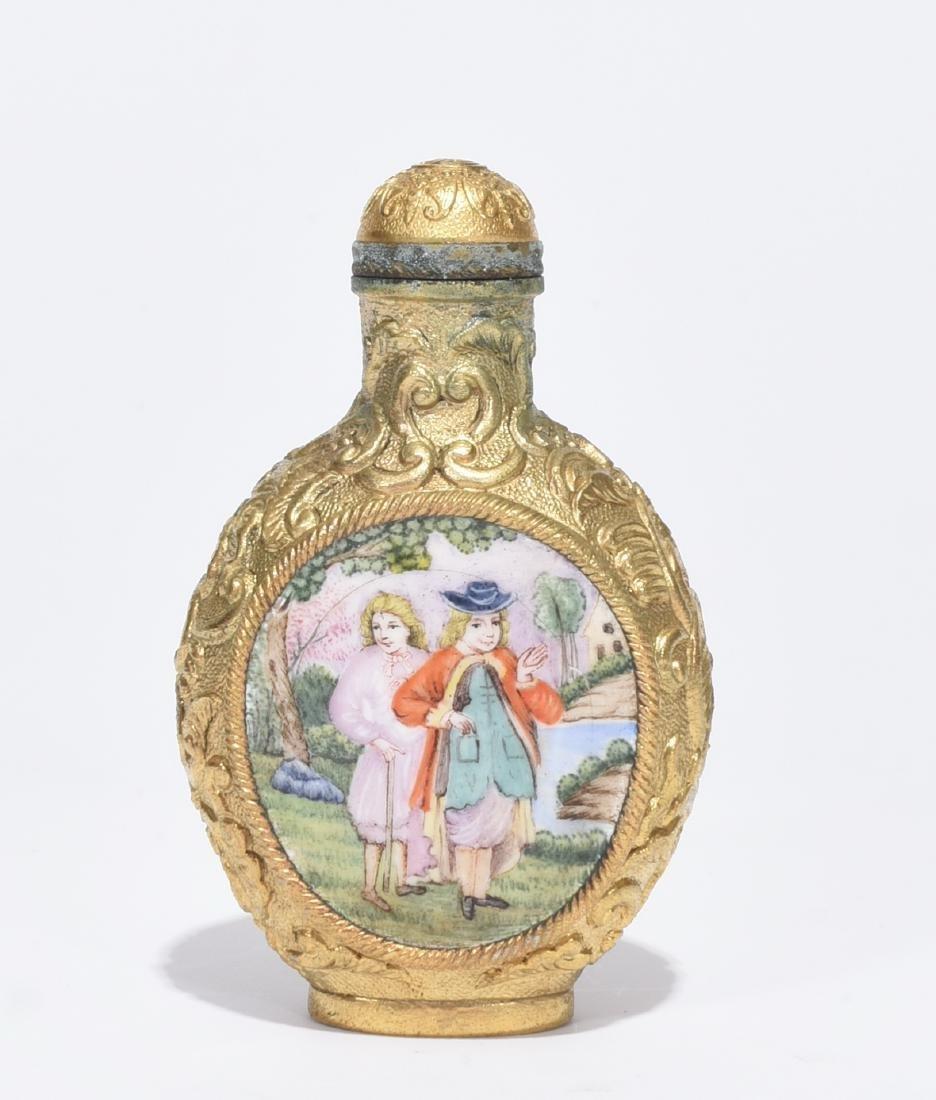Qianlong Marked Enamelled Snuff Bottle - 3