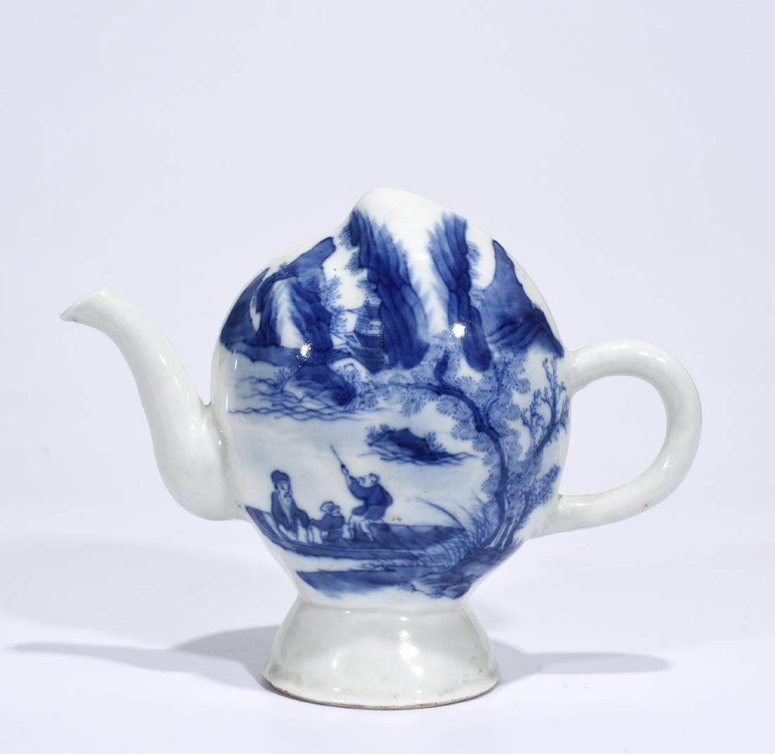 Marked Blue And White 'Landscape' Ewer