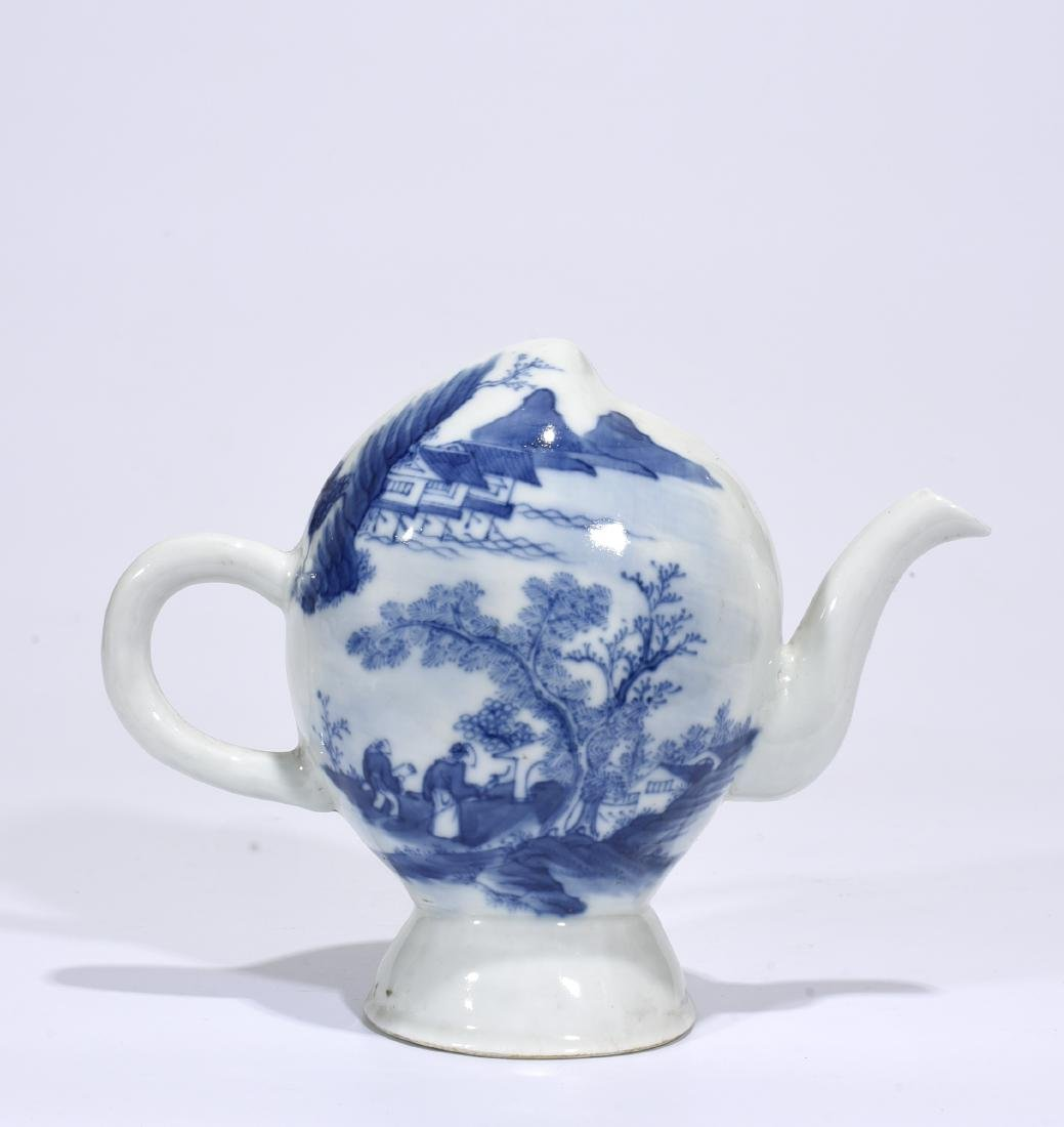 Marked Blue And White 'Landscape' Ewer - 3