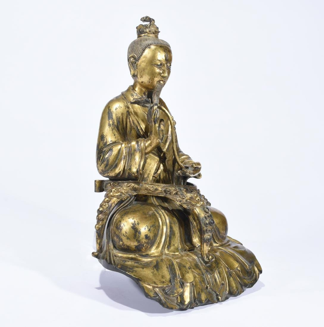 A Gilt-Bronze Figure of Taoist Priest - 2