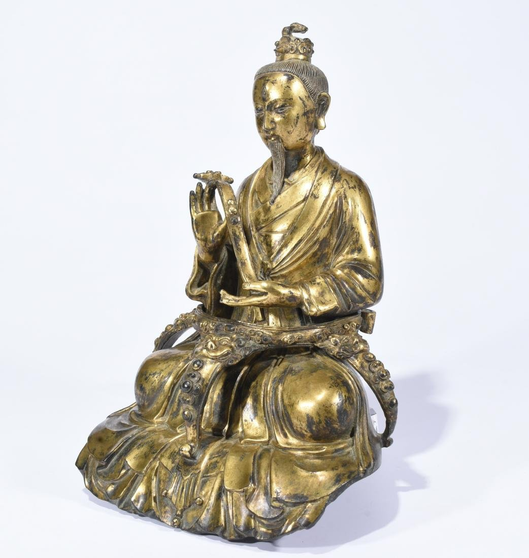 A Gilt-Bronze Figure of Taoist Priest - 3