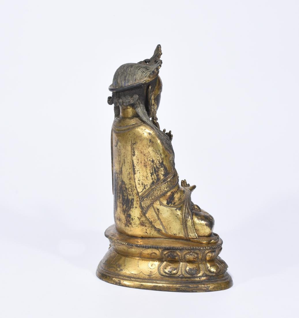 A Gilt-Bronze Figure of Guanyin - 5