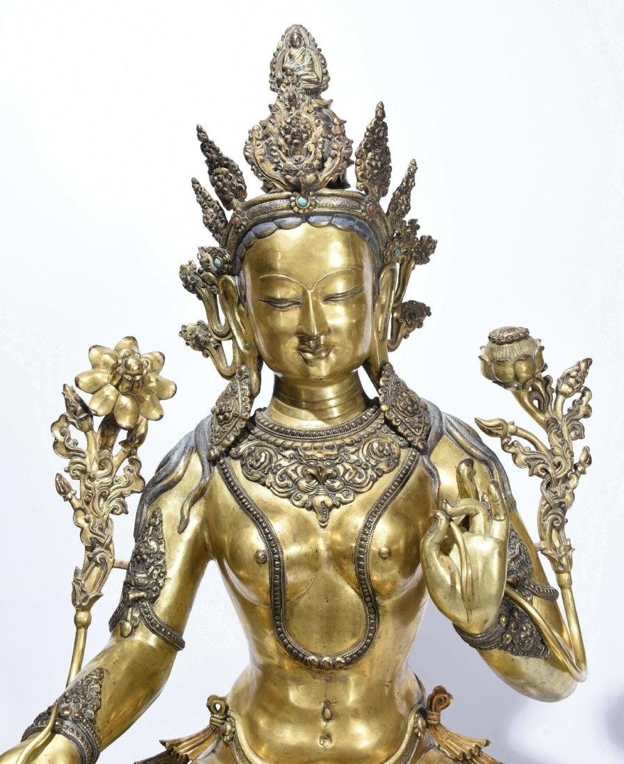 A Gilt-Bronze Figure Of Syamatara - 2