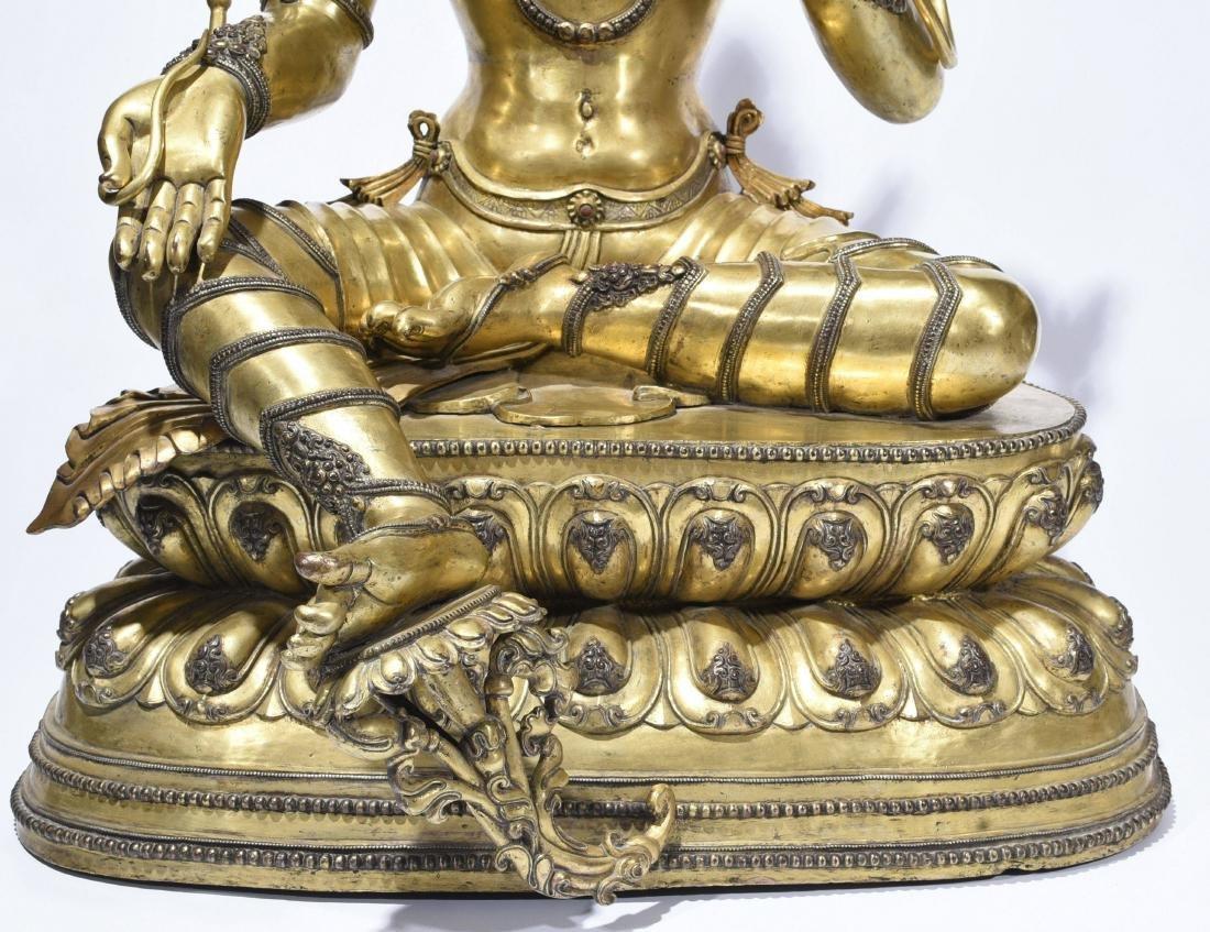 A Gilt-Bronze Figure Of Syamatara - 3