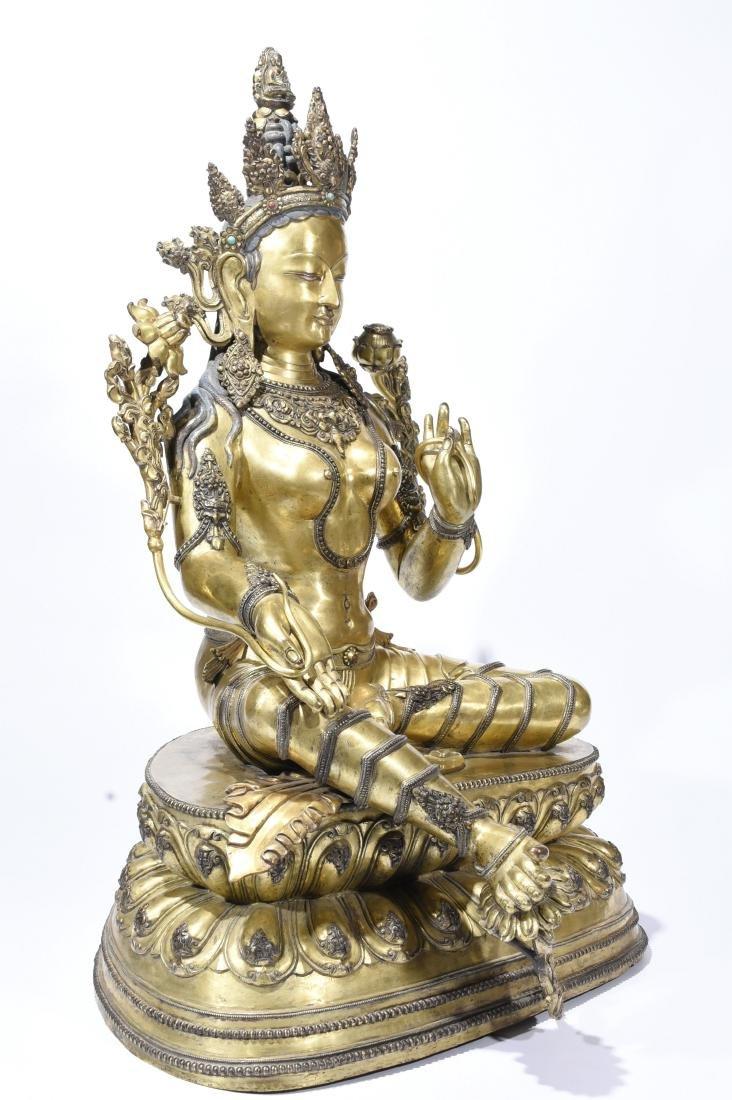 A Gilt-Bronze Figure Of Syamatara - 4